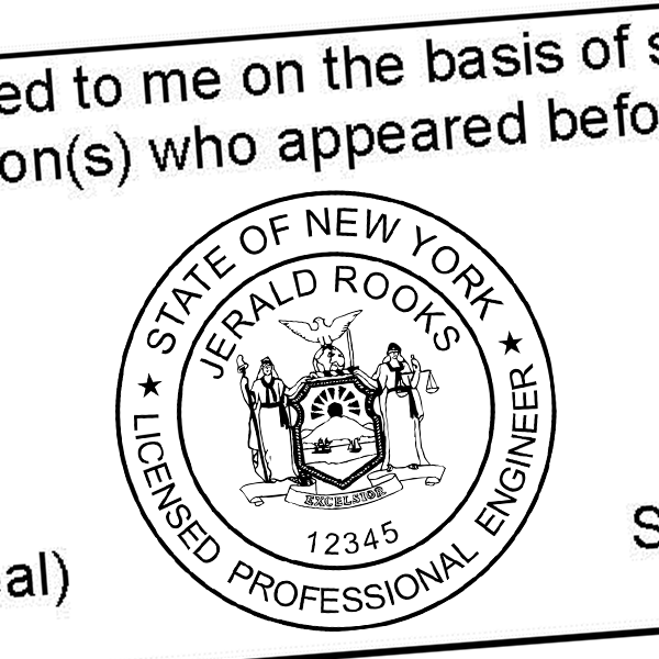 State of New York Engineer Seal Seal Imprint