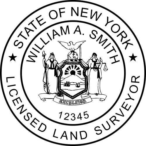 New York Land Surveyor Stamp