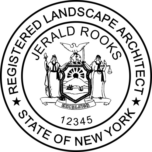 New York Landscape Architect Stamp