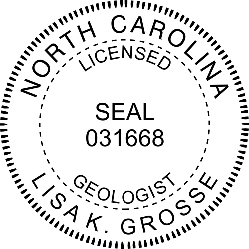 North Carolina Geologist Stamp Seal