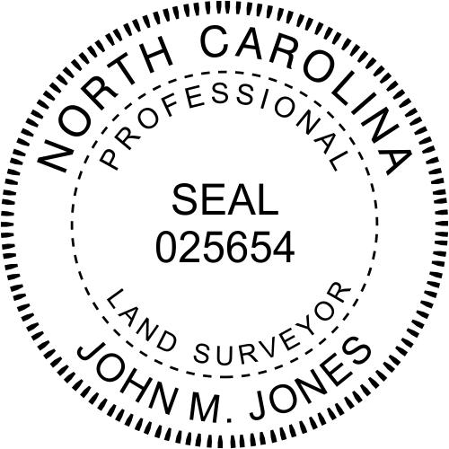 State of North Carolina Land Surveyor
