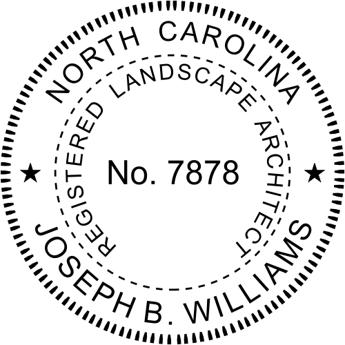 North Carolina Landscape Architect Stamp Seal