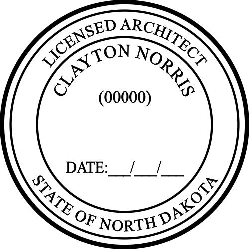 North Dakota Architect Stamp