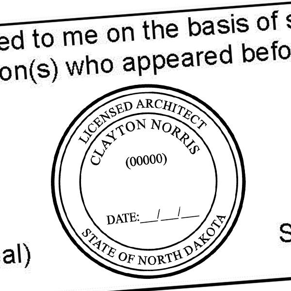 State of North Dakota Architect Seal Imprint