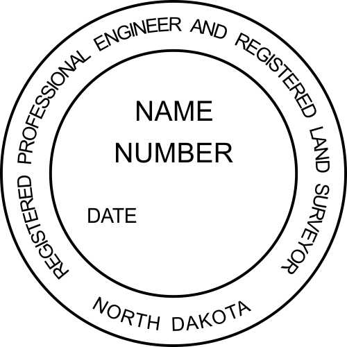 Official North Dakota Dual Engineer & Surveyor Stamp & Seal
