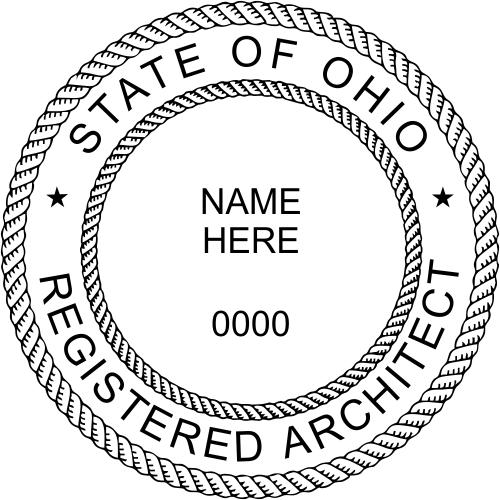 Ohio Architect Stamp