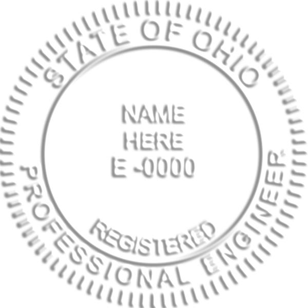 State of Ohio Engineer Embosser Seal