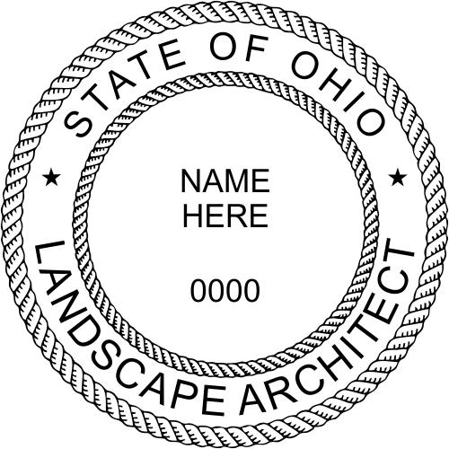 Ohio Landscape Architect Stamp Seal