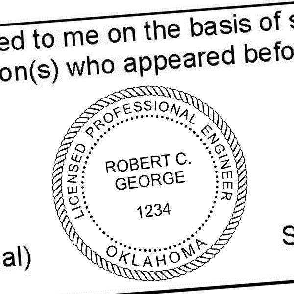 State of Oklahoma Engineer Seal Seal Imprint