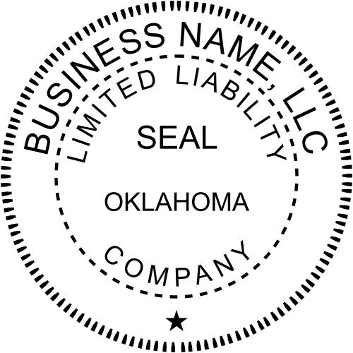 Oklahoma Business LLC Stamp Seal