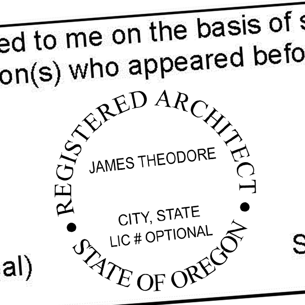 State of Oregon Architect Seal Imprint