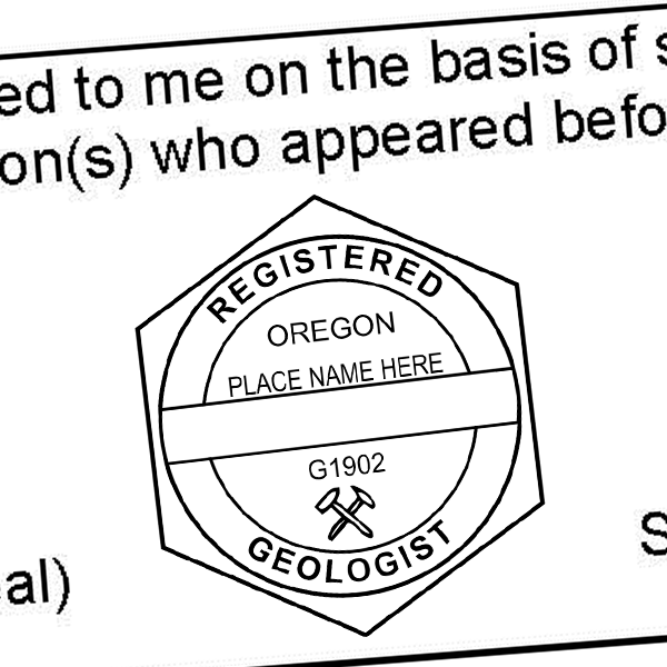 State of Oregon Geologist Seal Imprint
