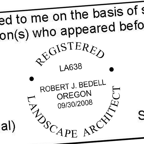 State of Oregon Landscape Architect Seal Imprint