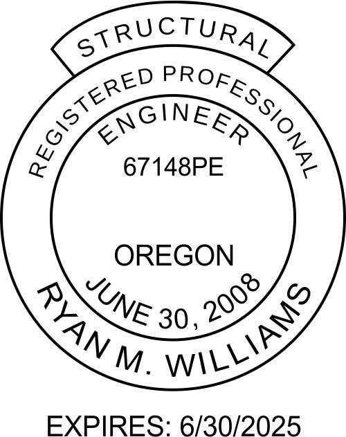 Oregon Structural Engineer Stamp