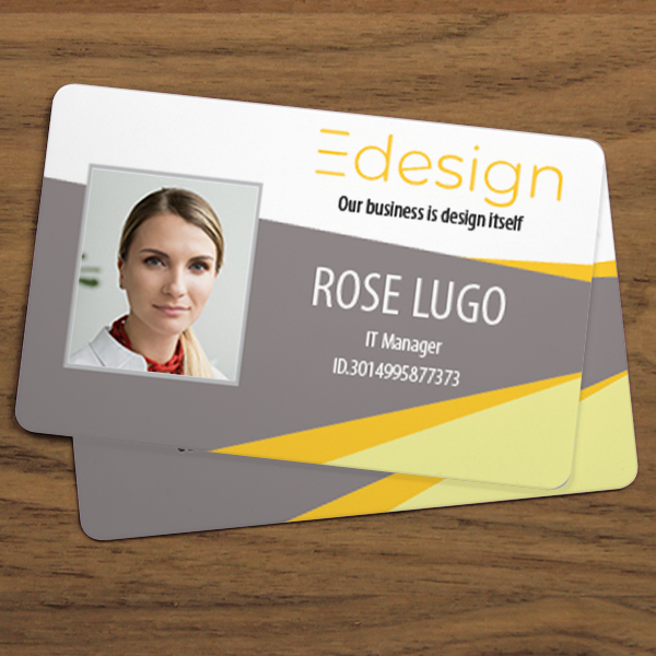 Custom Double Sided Horizontal ID Card