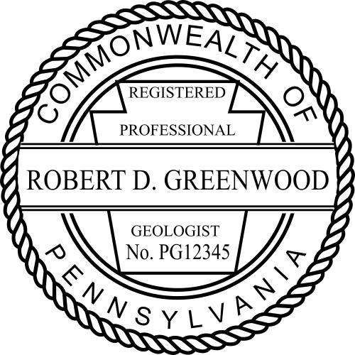 Pennsylvania Geologist Stamp Seal