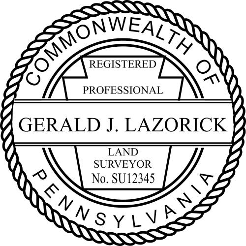 Pennsylvania Land Surveyor Stamp Seal