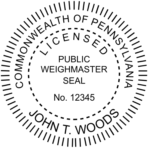 Pennsylvania Weighmaster Seal