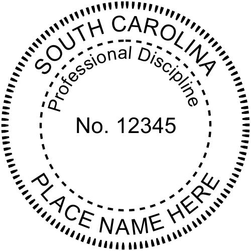South Carolina Professional Discipline Stamp Seal