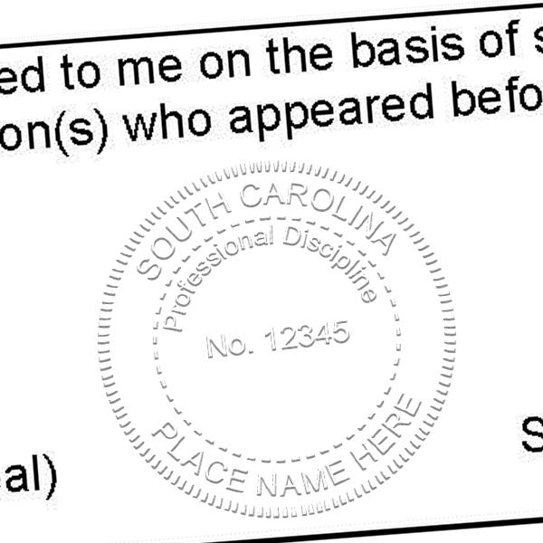 State of South Carolina Engineers Seal (Various Discipline) Seal Imprint