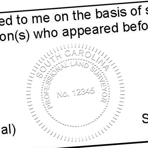 State of South Carolina Land Surveyor Seal Imprint