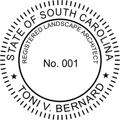 State of South Carolina Landscape Architect
