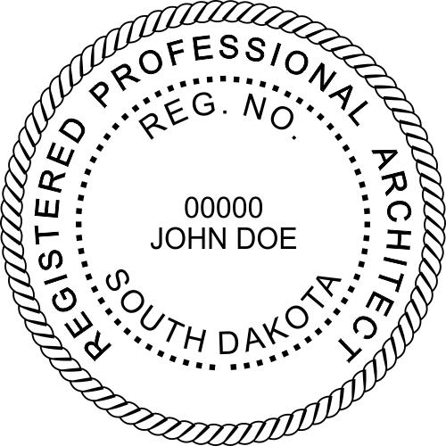 South Dakota Architect Stamp