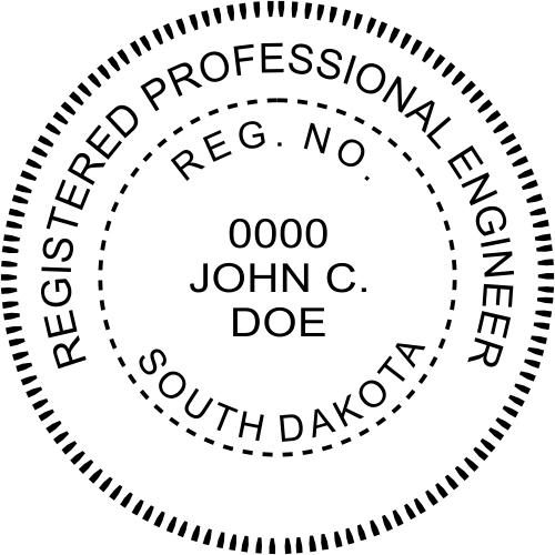 South Dakota Engineer Stamp