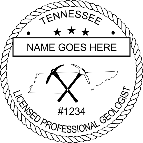 Tennessee Geologist Stamp Seal