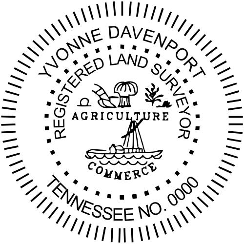 Tennessee Land Surveyor Stamp Seal