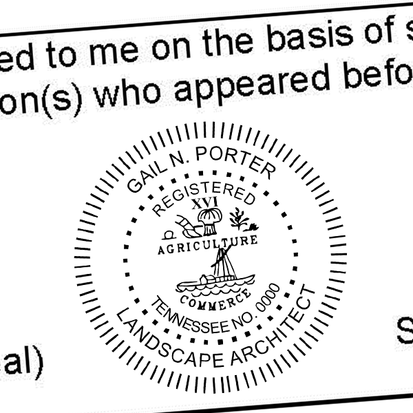 State of Tennessee Landscape Architect Seal Imprint