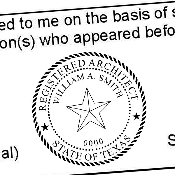 State of Texas Architect Seal Imprint