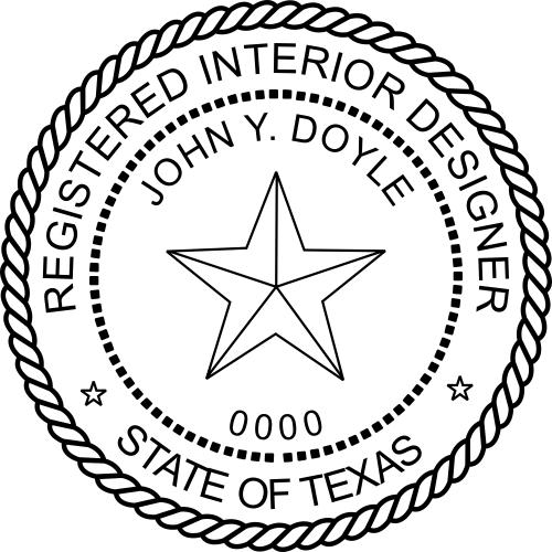Texas Interior Designer Stamp Seal
