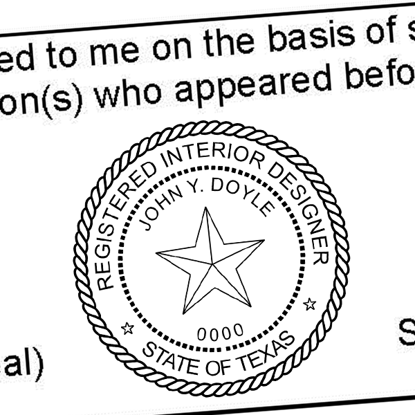 State of Texas Interior Designer Seal Imprint
