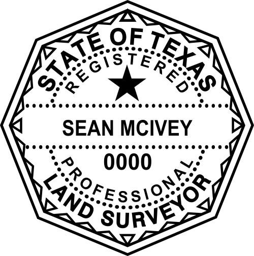 Texas Land Surveyor Stamp Seal