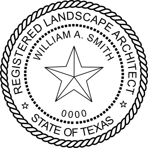 Texas Landscape Architect Stamp Seal