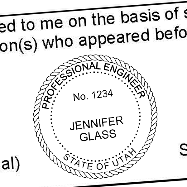 State of Utah Engineer Seal Seal Imprint