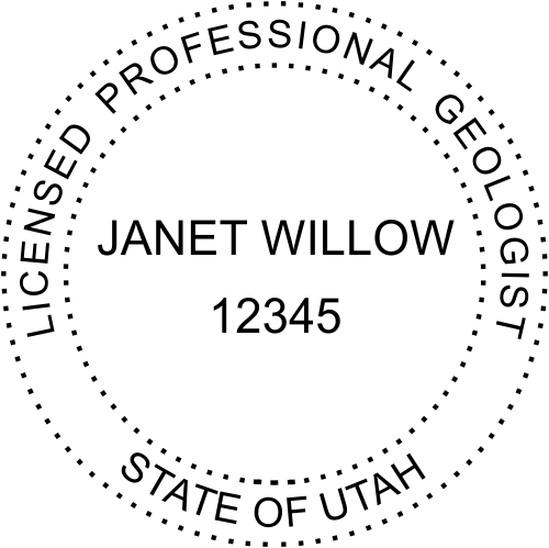 Utah Geologist Stamp Seal
