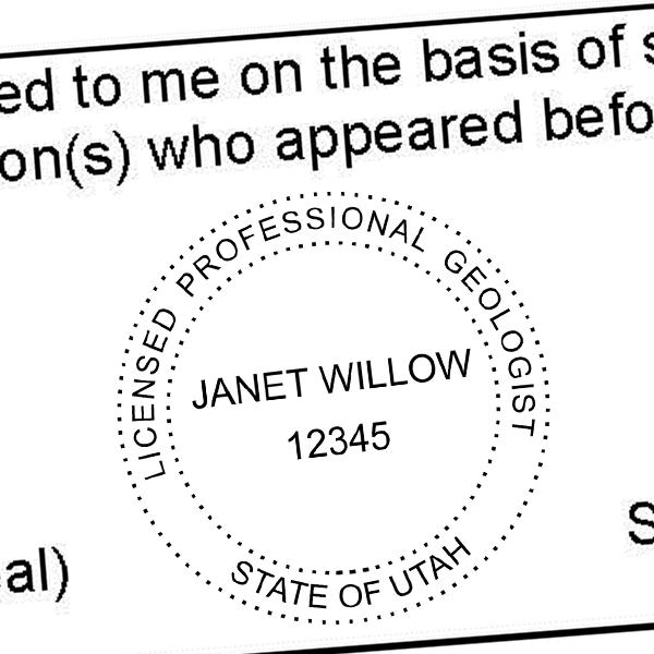 State of Utah Geologist Seal Imprint