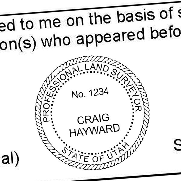 State of Utah Land Surveyor Seal Imprint