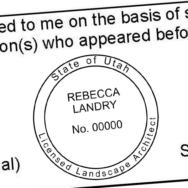 State of Utah Landscape Architect Seal Imprint