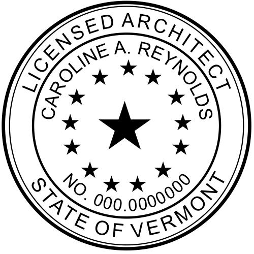 Vermont Architect Stamp Seal