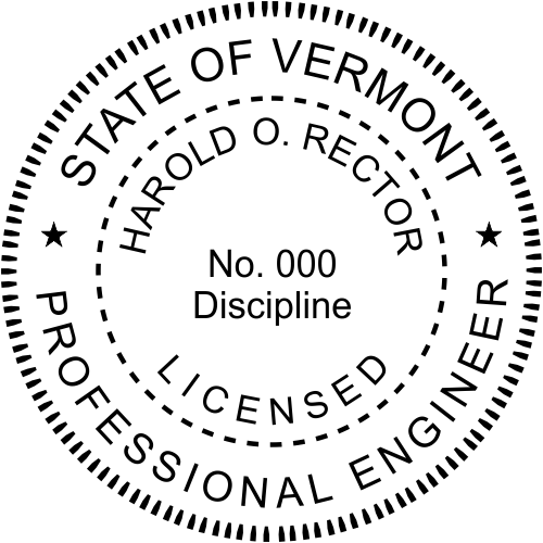 Vermont Engineer Stamp Seal
