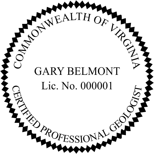 Virginia Geologist Stamp Seal