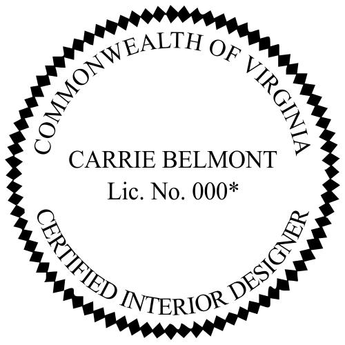 Virginia Interior Designer Stamp Seal