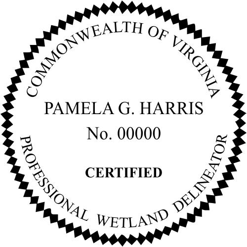 Virginia Wetland Delineator Stamp Seal