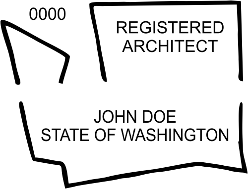 Washington Architect Stamp Seal