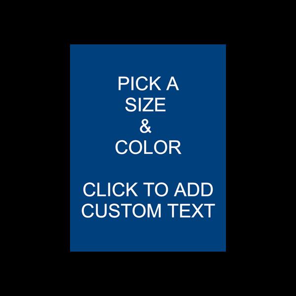 Custom Engraved Sign - Vertical Medium