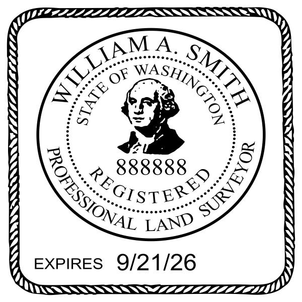 State of Washington Land Surveyor Seal Imprint