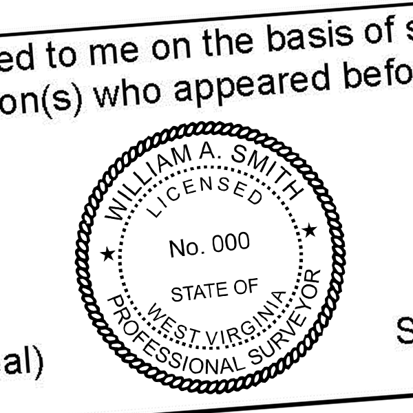 State of West Virginia  Surveyor Seal Imprint